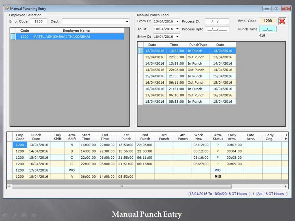 Manual Punch Entry Transactio - Sunrise Software